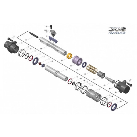 C233 - Selector axle