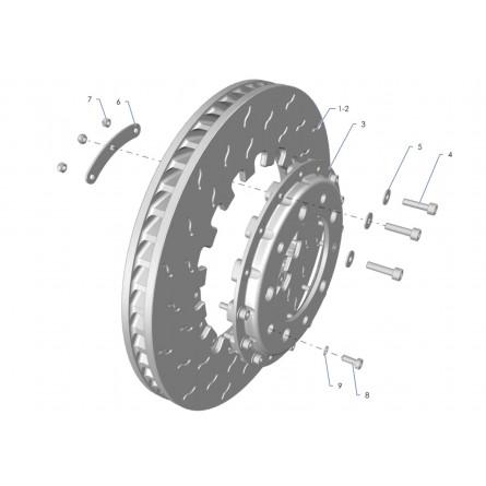 F11A Front brake disc Tarmac