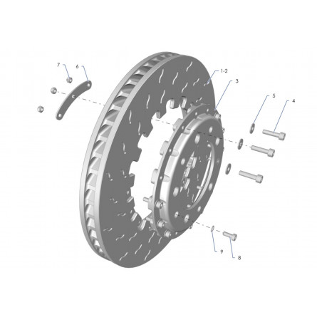 F31A Rear brake disc Tarmac