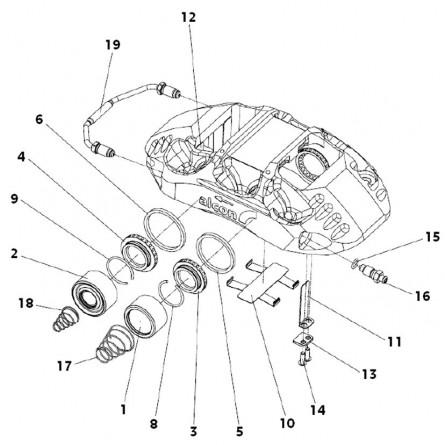 F21-F41 Brake caliper...