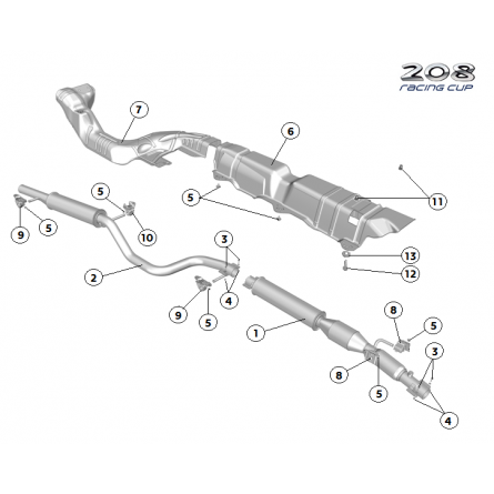 B21 Exhaust system