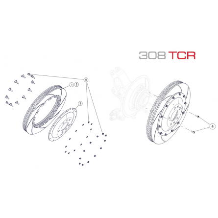 F11 Front Brake Disc Assembly