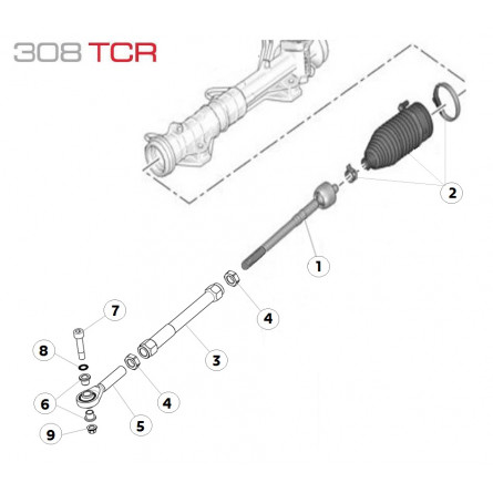 E44 Steering Rod Assembly