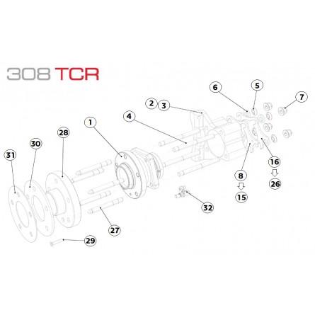 E24 Rear Wheel Hub